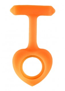 Silikongehäuse Herz Orange