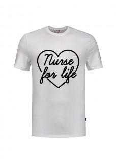 T-Shirt Nurse For Life Weiß
