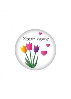 Button Blumen