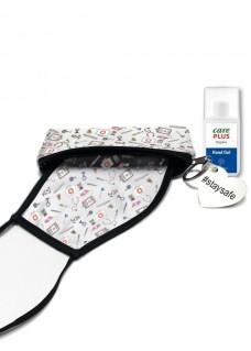 Schutzmittel Set Weiß Medizinische Symbole