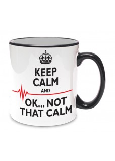Tasse Not That Calm Schwarz