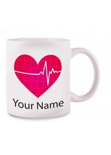 Tasse EKG mit Namensaufdruck