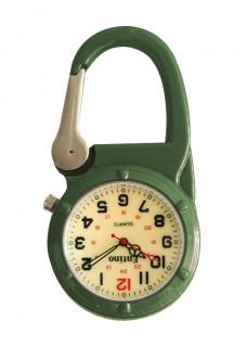 Karabiner Uhr NOC470 Luminös Grün