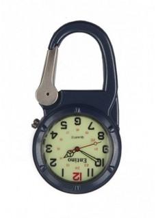 Karabiner Uhr NOC471 Luminös Blau