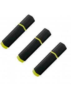 Neon Textmarker 3 Stück Schwarz/Gelb