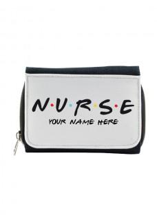 Damen Jeans Geldbörse Nurse mit Namensaufdruck