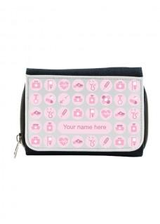 Damen Jeans Geldbörse Rosa mit Namensaufdruck