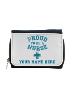 Damen Jeans Geldbörse Proud Nurse mit Namensaufdruck