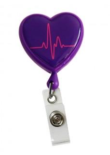 Ausweis Jojo Herz EKG Lila