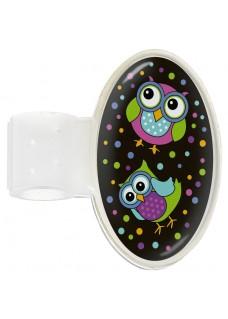 Stethoskop Namensschild Owl Black Party