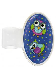 Stethoskop Namensschild Owl Blue Party