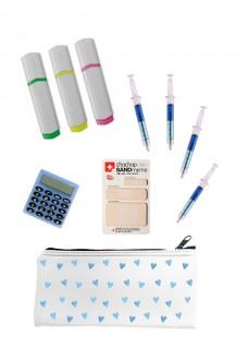 Schreibwaren Set Blau