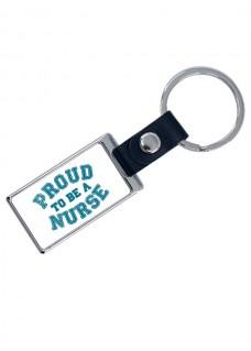 Luxuriöser Schlüsselanhänger Proud Nurse mit Namensaufdruck