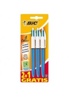 BIC Vier Farbkugelschreiber 3er Pack