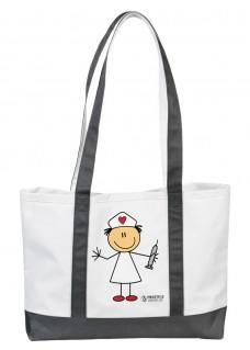 Große Leinwand Tasche Stick Nurse