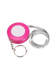 Schlüsselanhänger Maßband Rosa