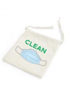 Leinenbeutel für Mundschutz Clean - Dirty