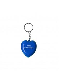 Beatmungsmaske Schlüsselanhänger Herz Blau