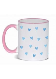 Tasse Blaue Herzen Rosa