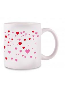 Tasse Stick Heart Weiß