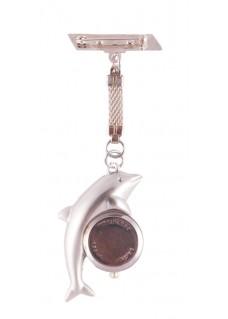 Schwesternuhr Delfin Silber