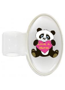 Stethoskop Namensschild Panda