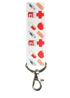 Sicherheits-Schlüsselband Symbole Rot