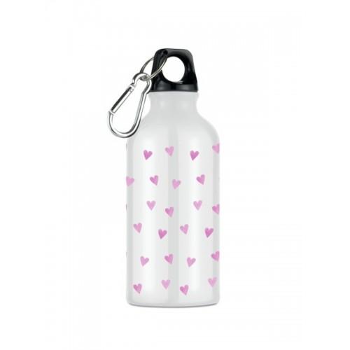 Trinkflasche Rosa Herzen