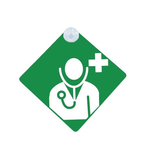 Autoschild Grün Arzt