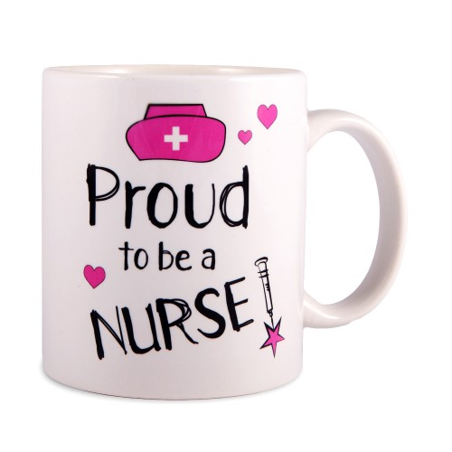 Tasse Proud to be a Nurse 2 Weiß