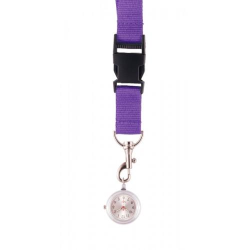 Schlüsselband Uhr Purpur