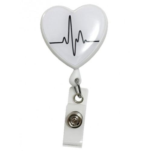 Ausweis Jojo Herz EKG Weiß