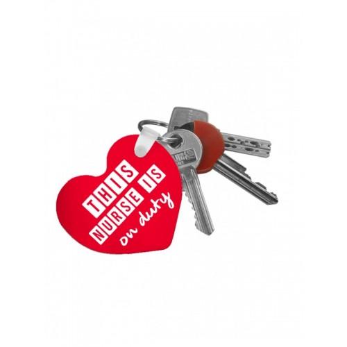 Schlüsselanhänger Herz Nurse Duty