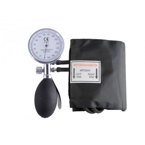 Blutdruckmessgerät Doppelschlauchsystem mit Tragetasche Schwarz Silber
